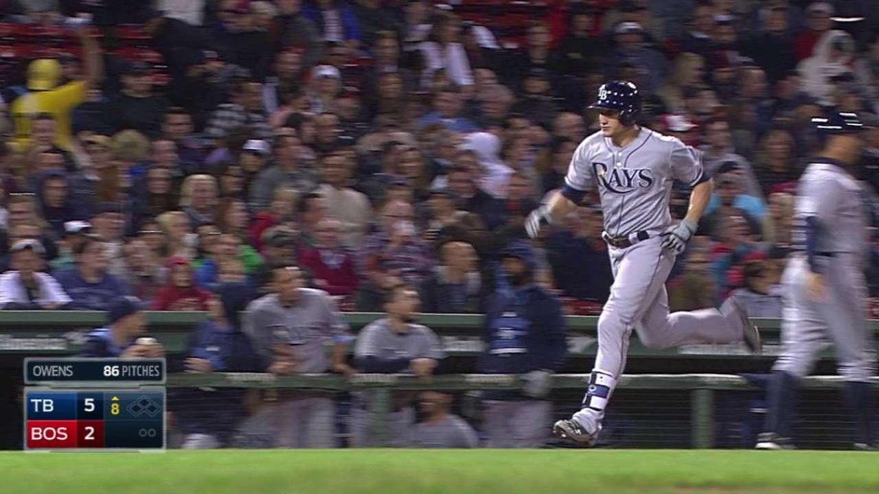 Mahtook caps Rays' comeback win vs. Red Sox