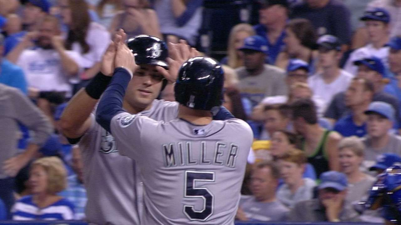 Mariners launch 5 jacks in blowout of Royals