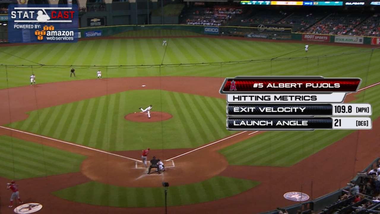 Statcast: Pujols' 443-foot homer