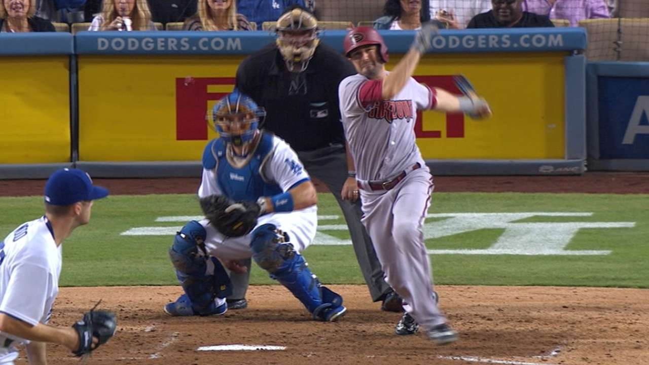 D-backs homer 3 times in rout of Dodgers