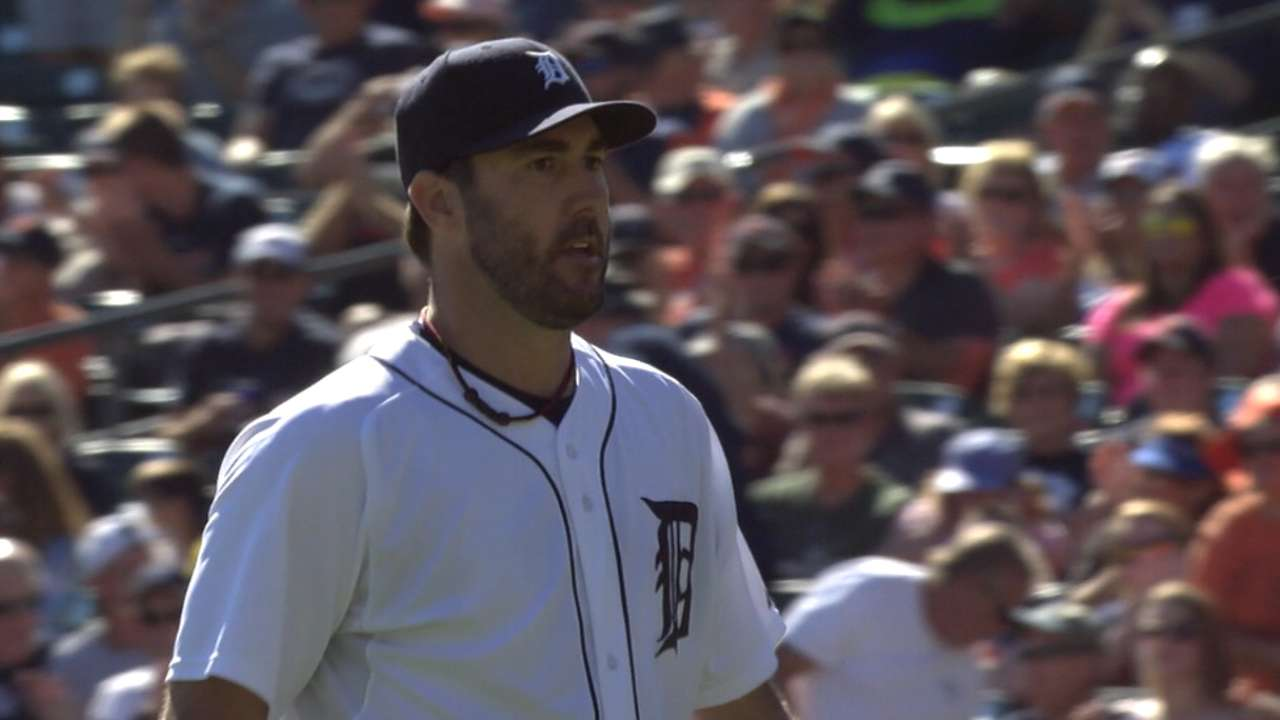 Verlander hits 99 mph in 7th inning of win