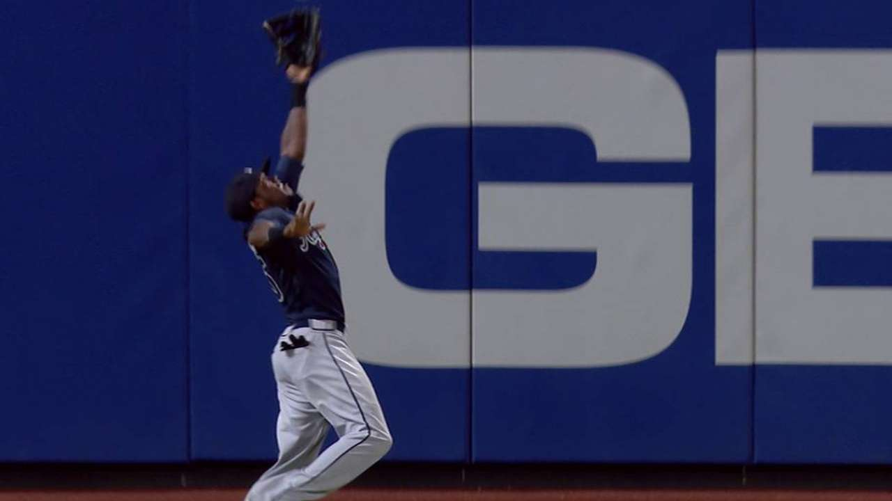Maybin's leaping catch