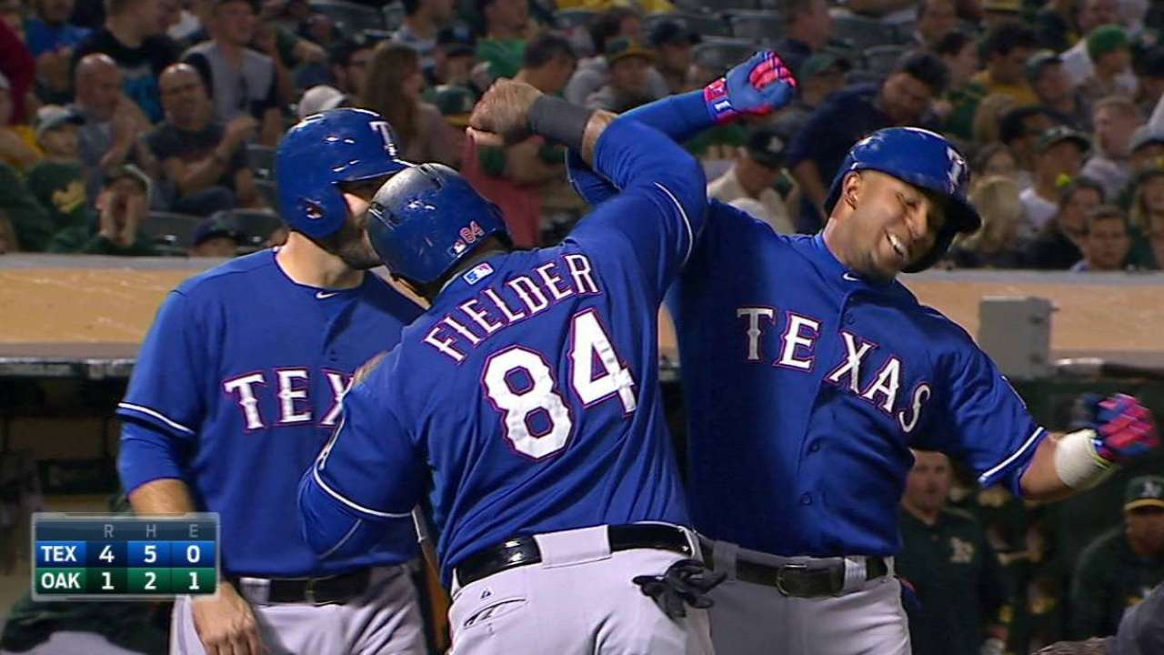 Andrus' three-run dinger