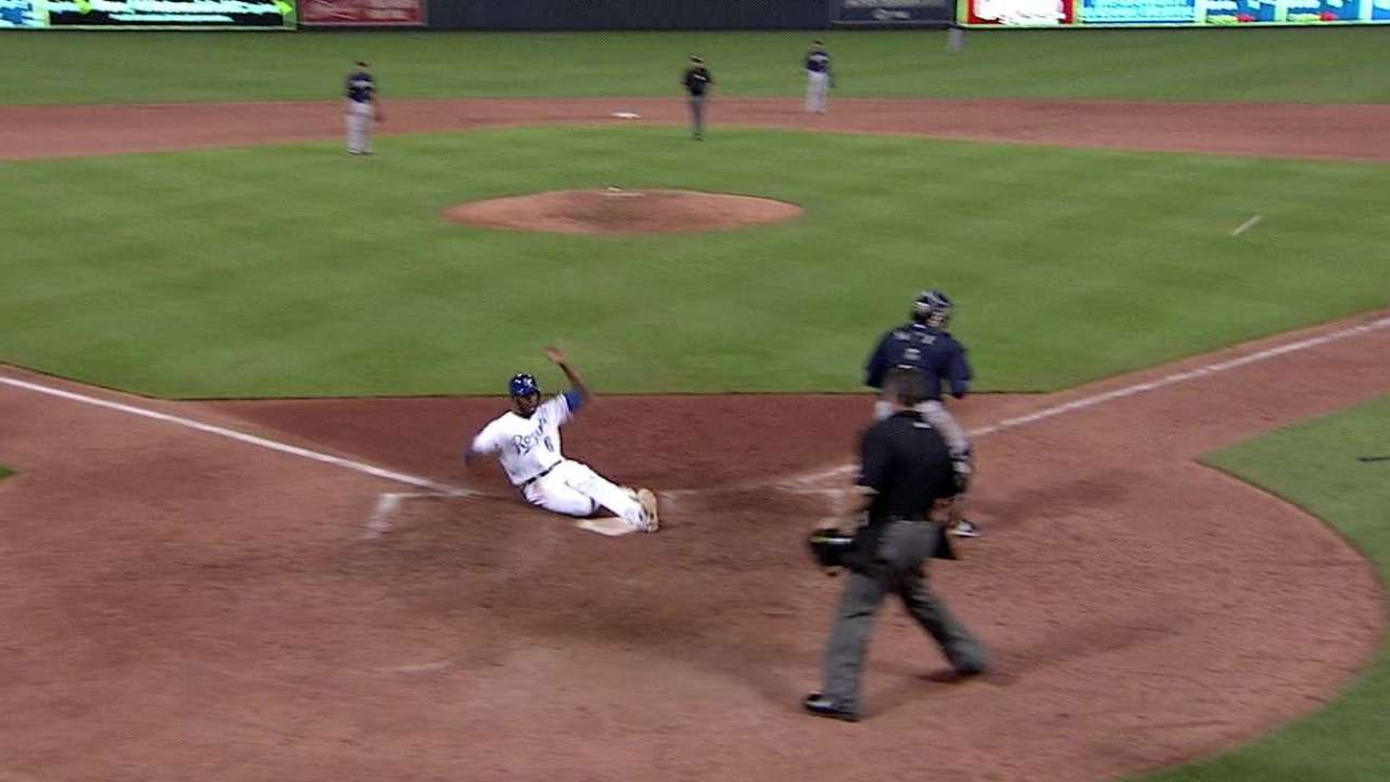 Dyson's game-tying sac fly