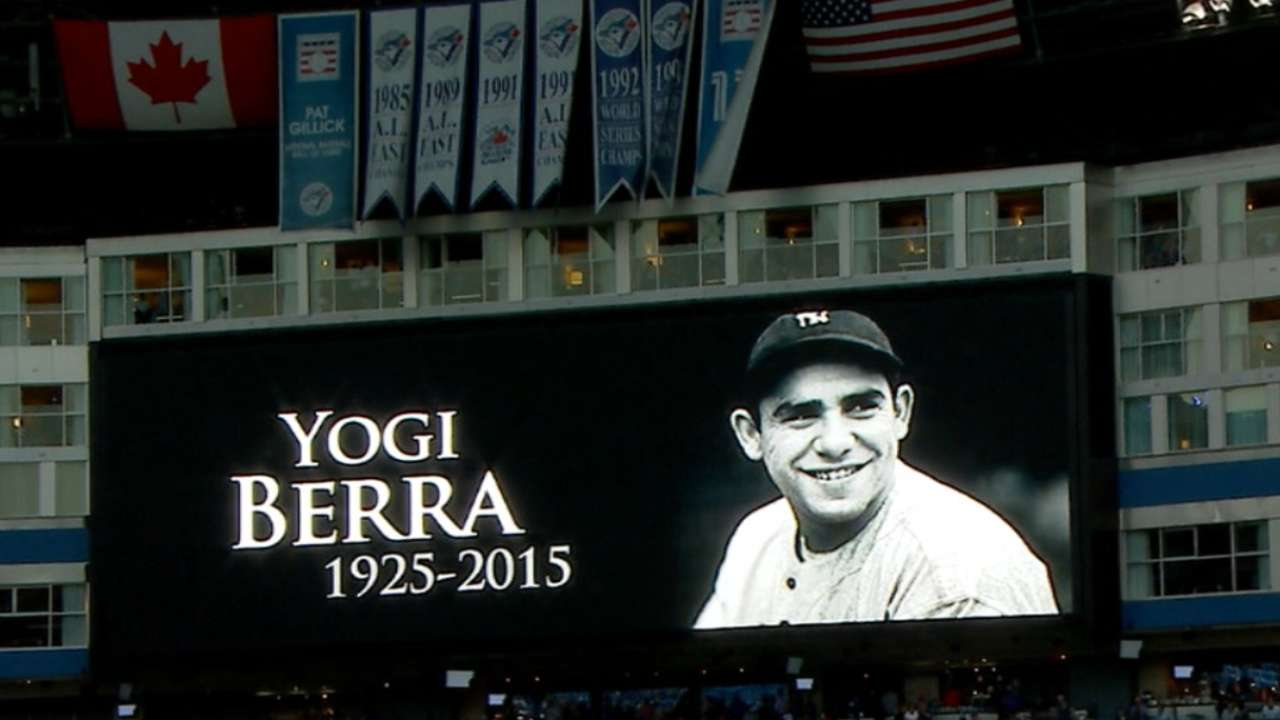 Press, family celebrate Yogi at museum memorial