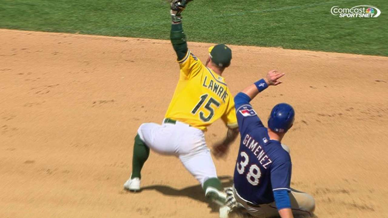 Semien recovers for out