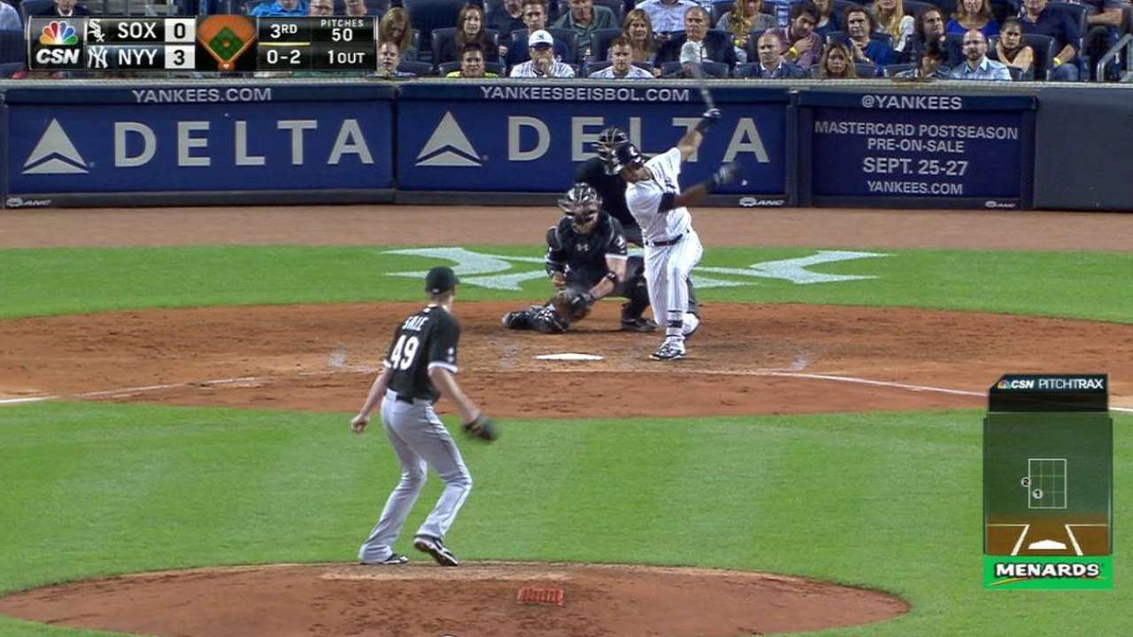 Sale to get one shot at club strikeout mark