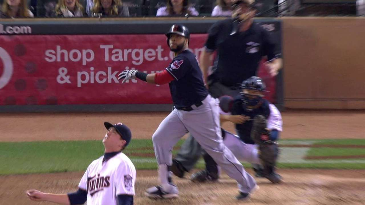 Tribe moves up, Twins tumble in WC race