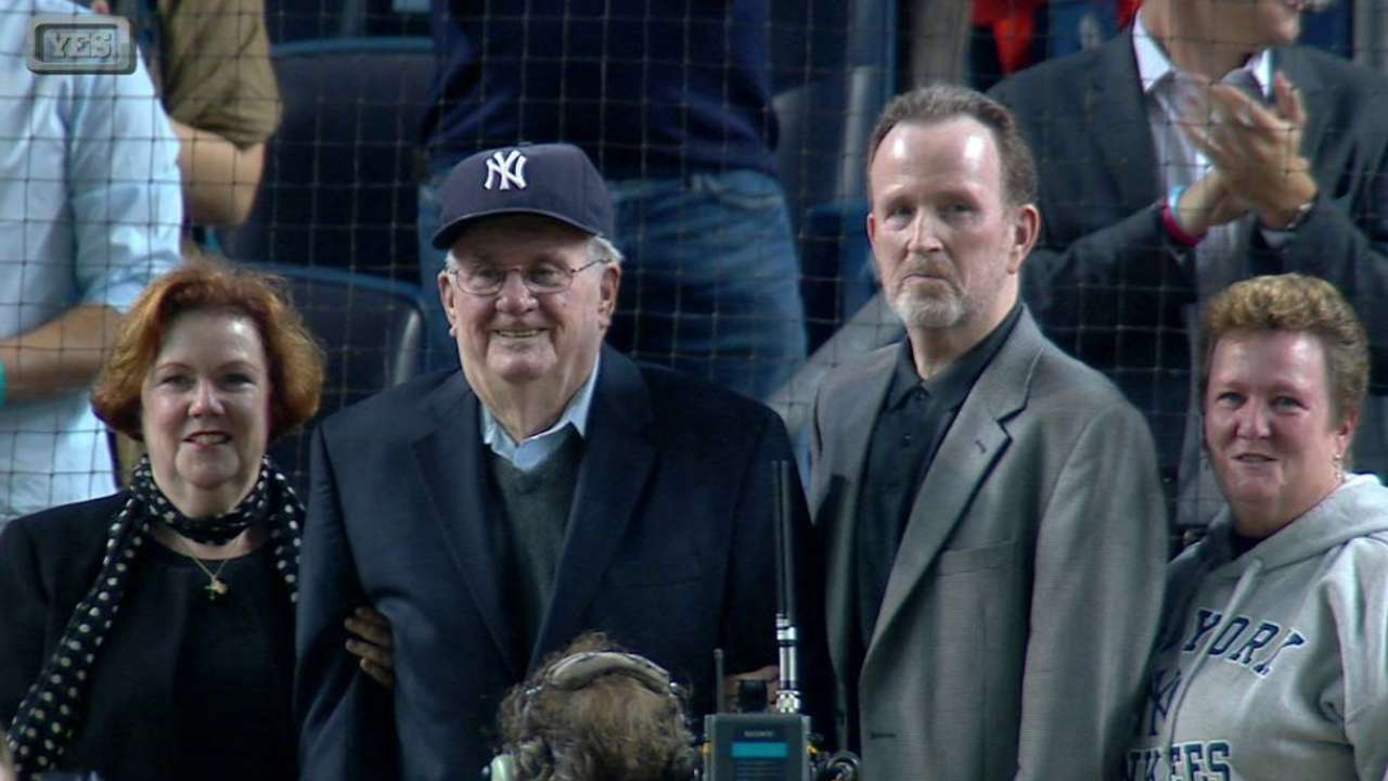Yankees honor O'Connell with moving tribute