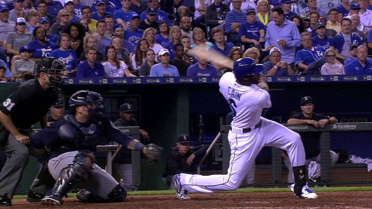 Cain's go-ahead two-run single