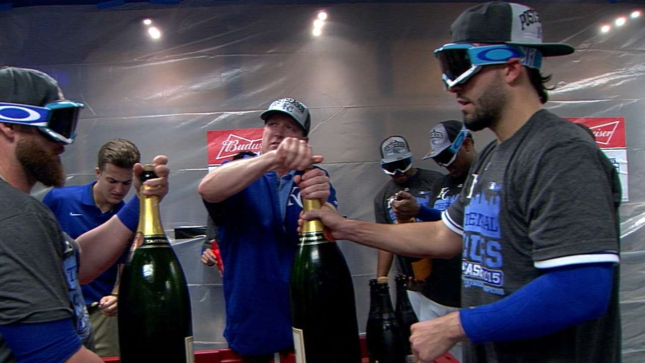Royals celebrate division title