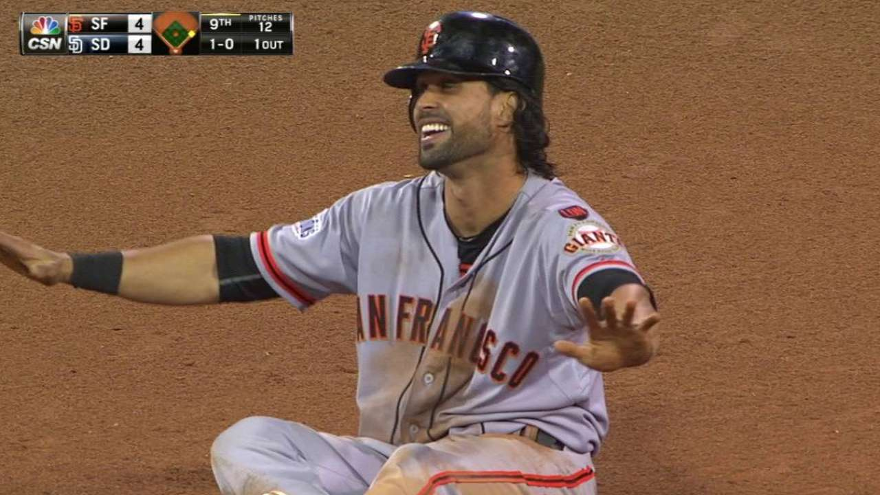 Pagan swipes second in the 9th