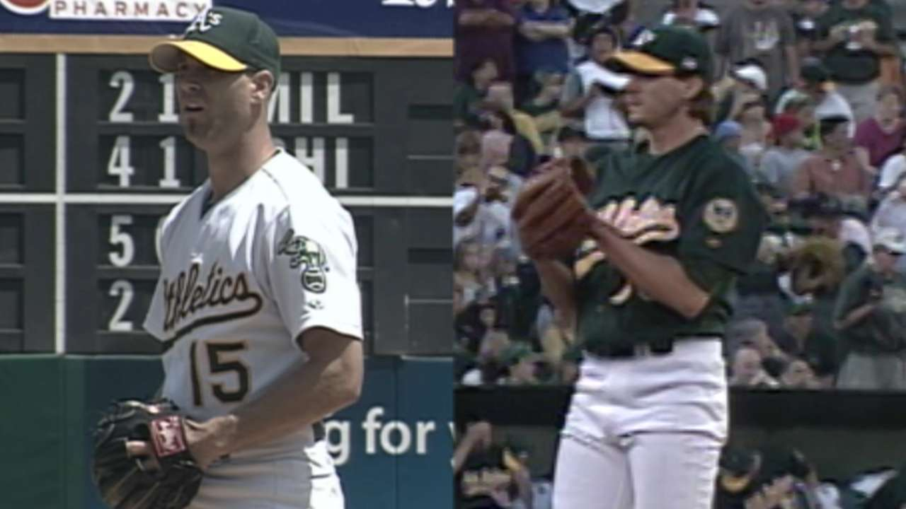 Former A's teammates square off