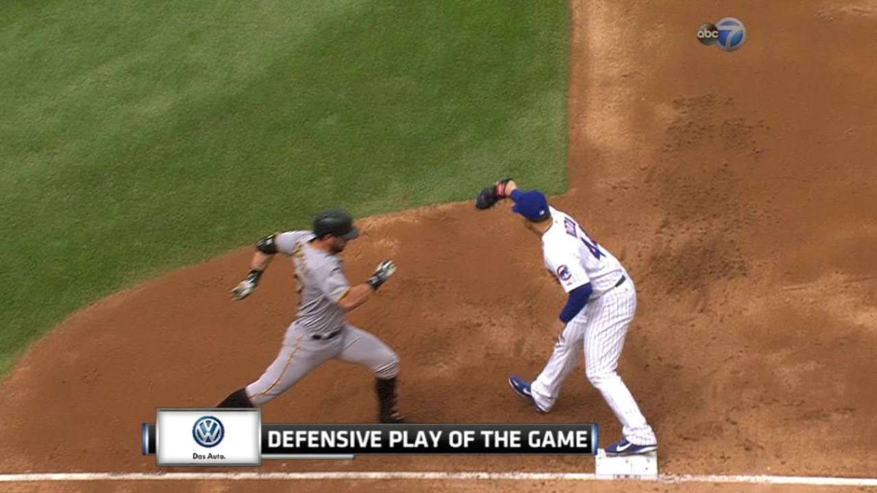 Russell's nice stop