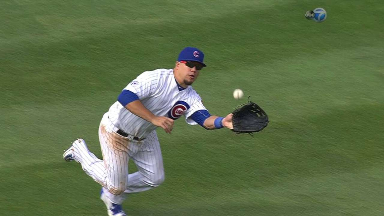Schwarber adds right field to defensive options