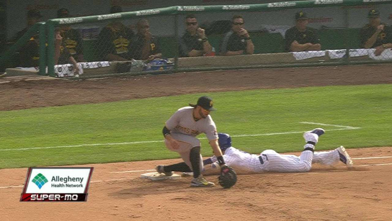 Watson nabs Baez at first