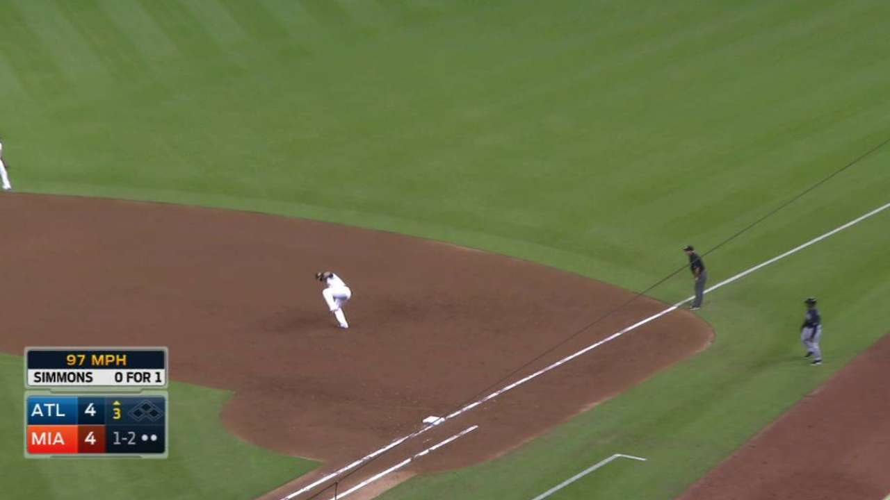 Bour's leaping catch