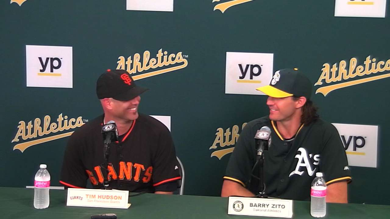 Hudson, Zito on their matchup