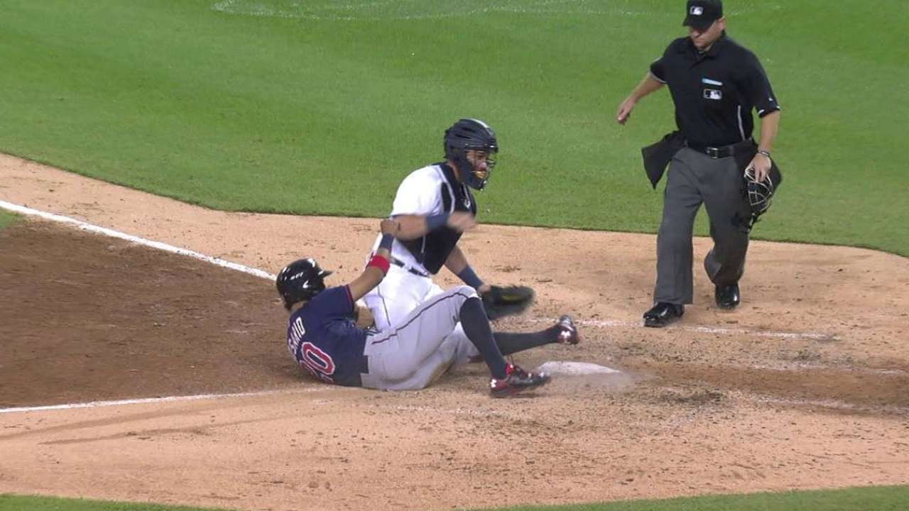 Rosario impresses with bold baserunning