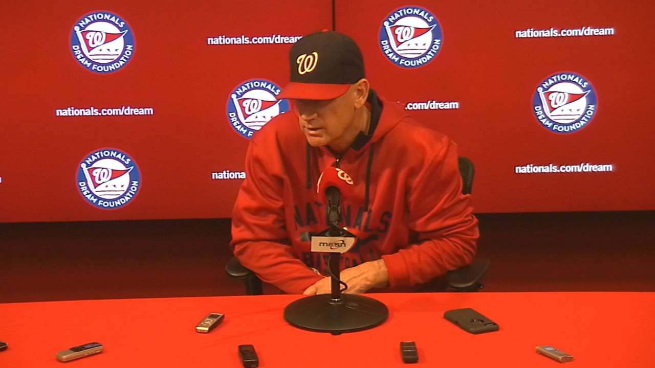 Williams on Nationals' 8-2 loss