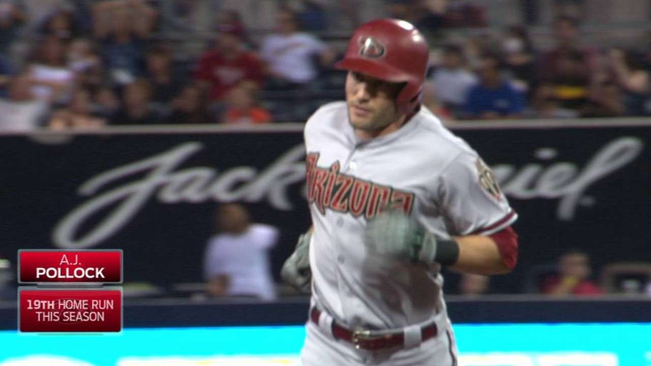 Pollock, D-backs turn up heat, with eye on '16