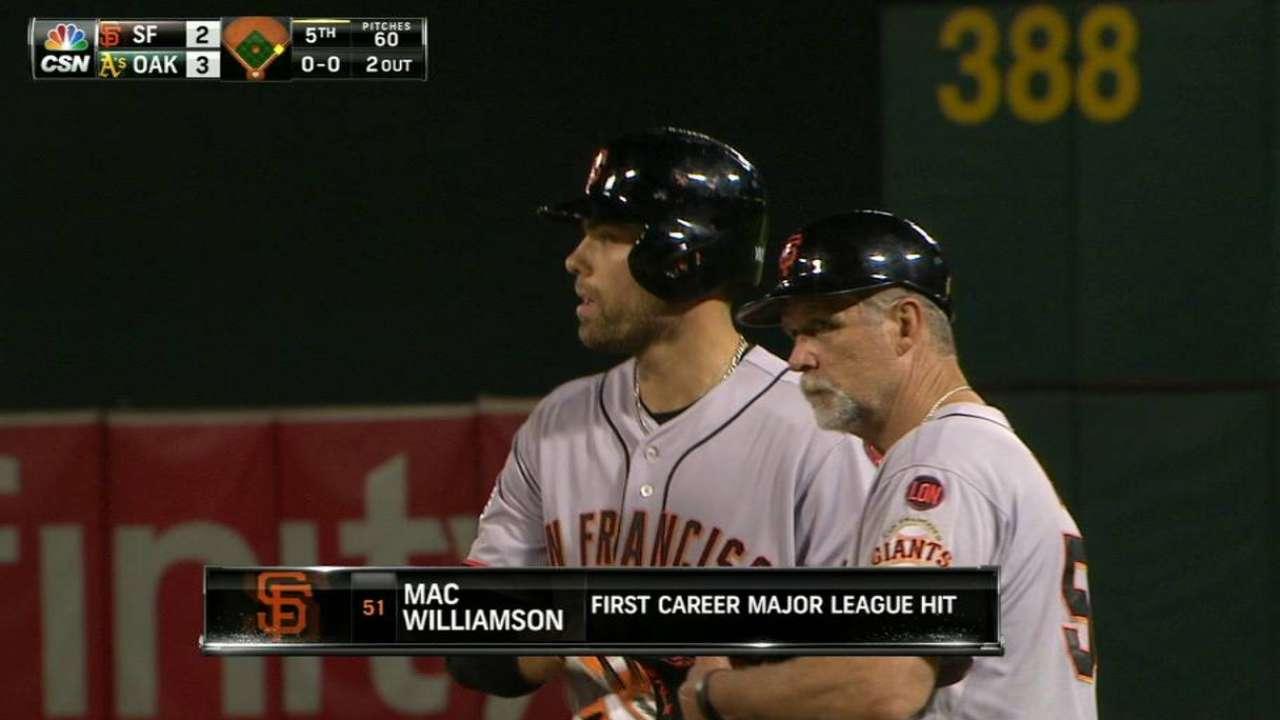 Williamson's first career hit