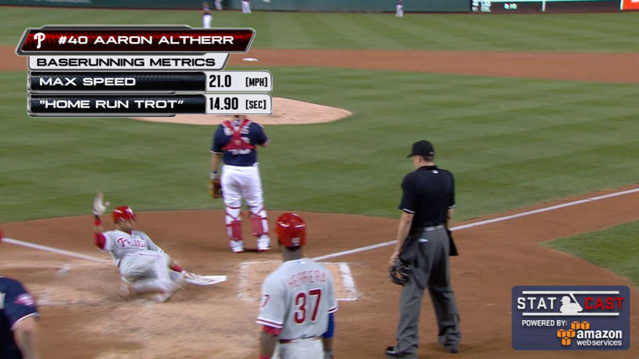 Altherr's historic night powers Phils past Nats