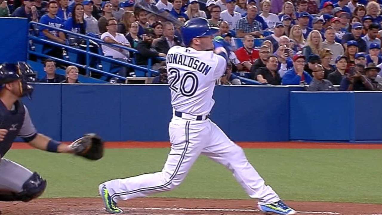 Donaldson reaches 40 homers for first time