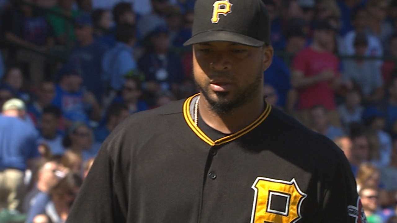 Liriano strikes out nine in win