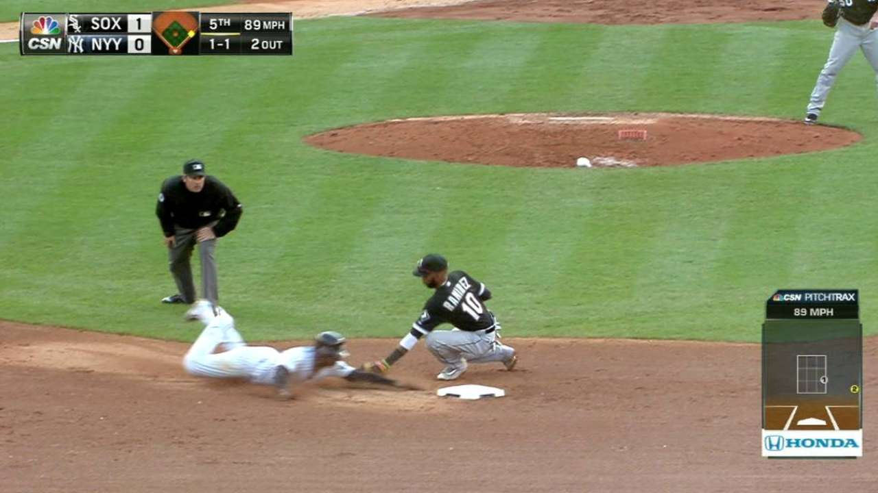 Flowers throws out Gregorius