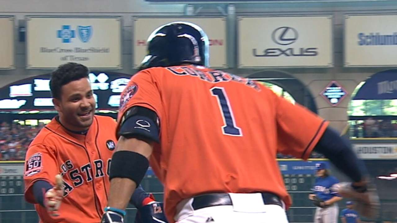 Altuve's two-homer day