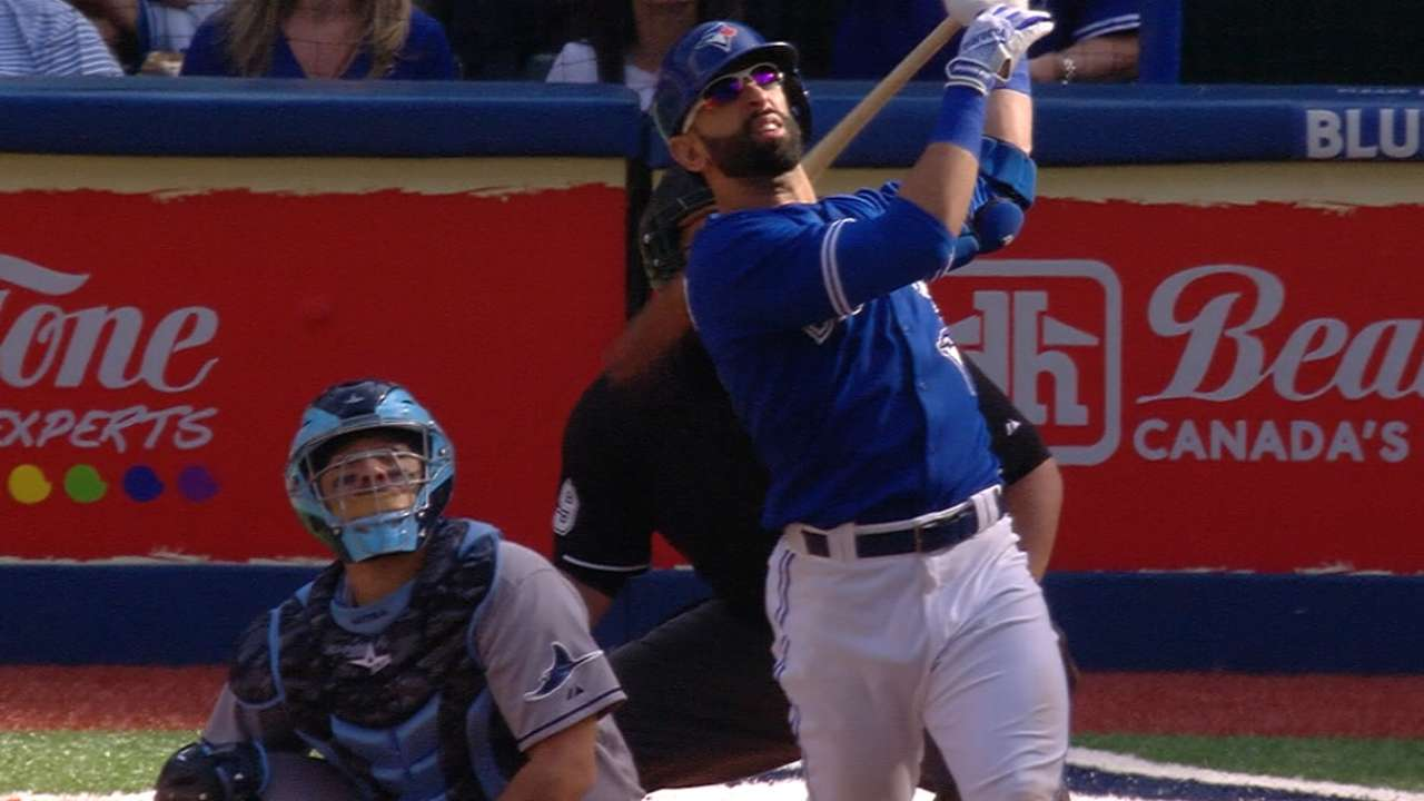 Bautista goes deep twice to lead Blue Jays past Rays
