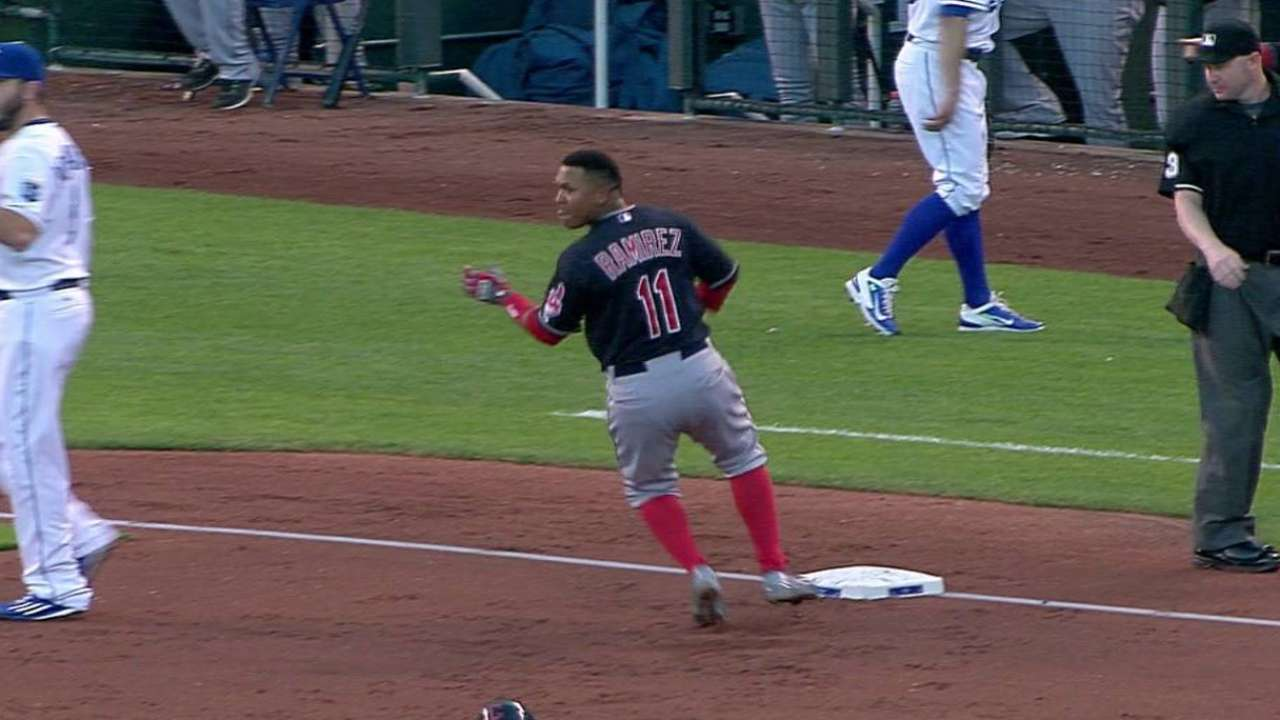 Ramirez's triple in 3rd