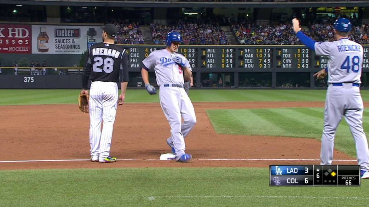 Seager's first career triple