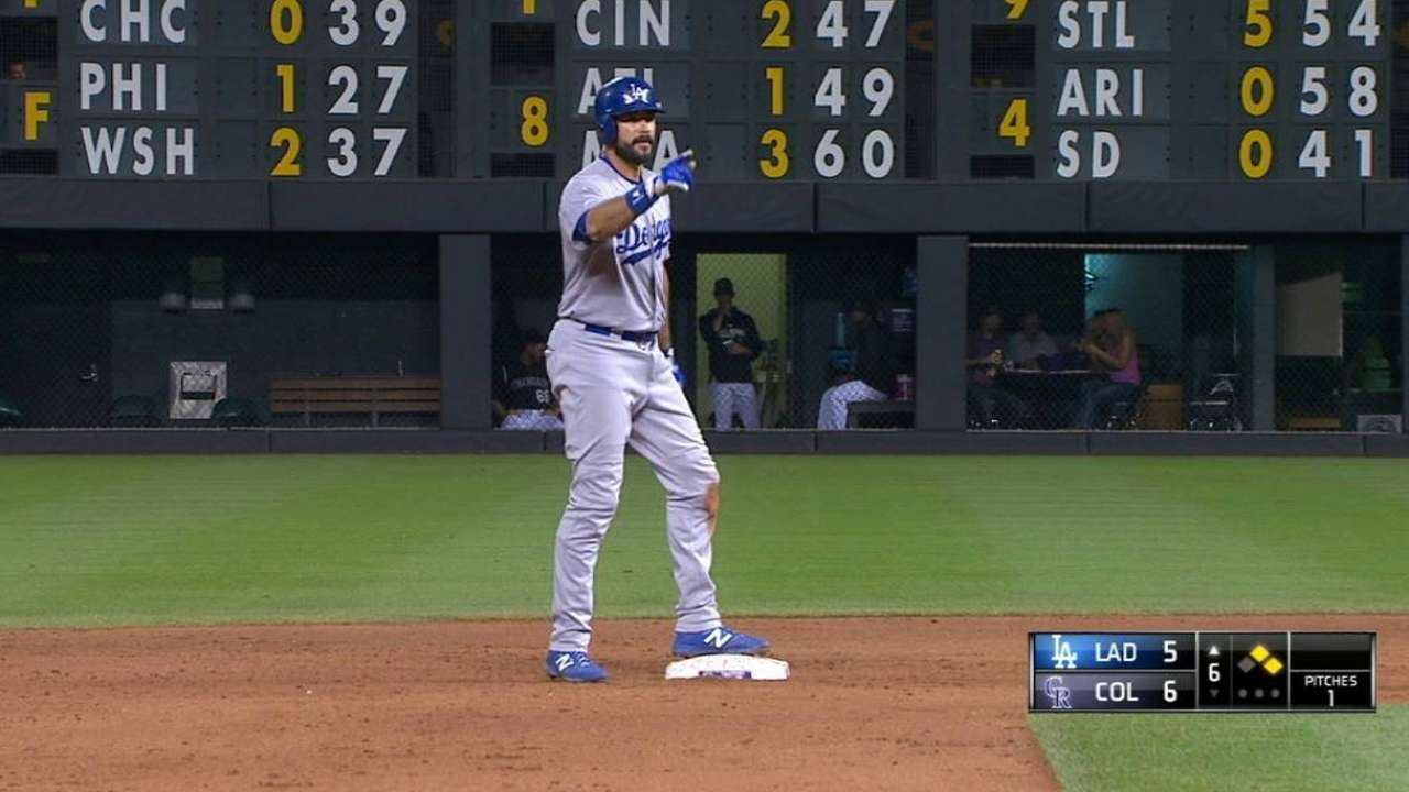 Ethier's game-tying RBI double