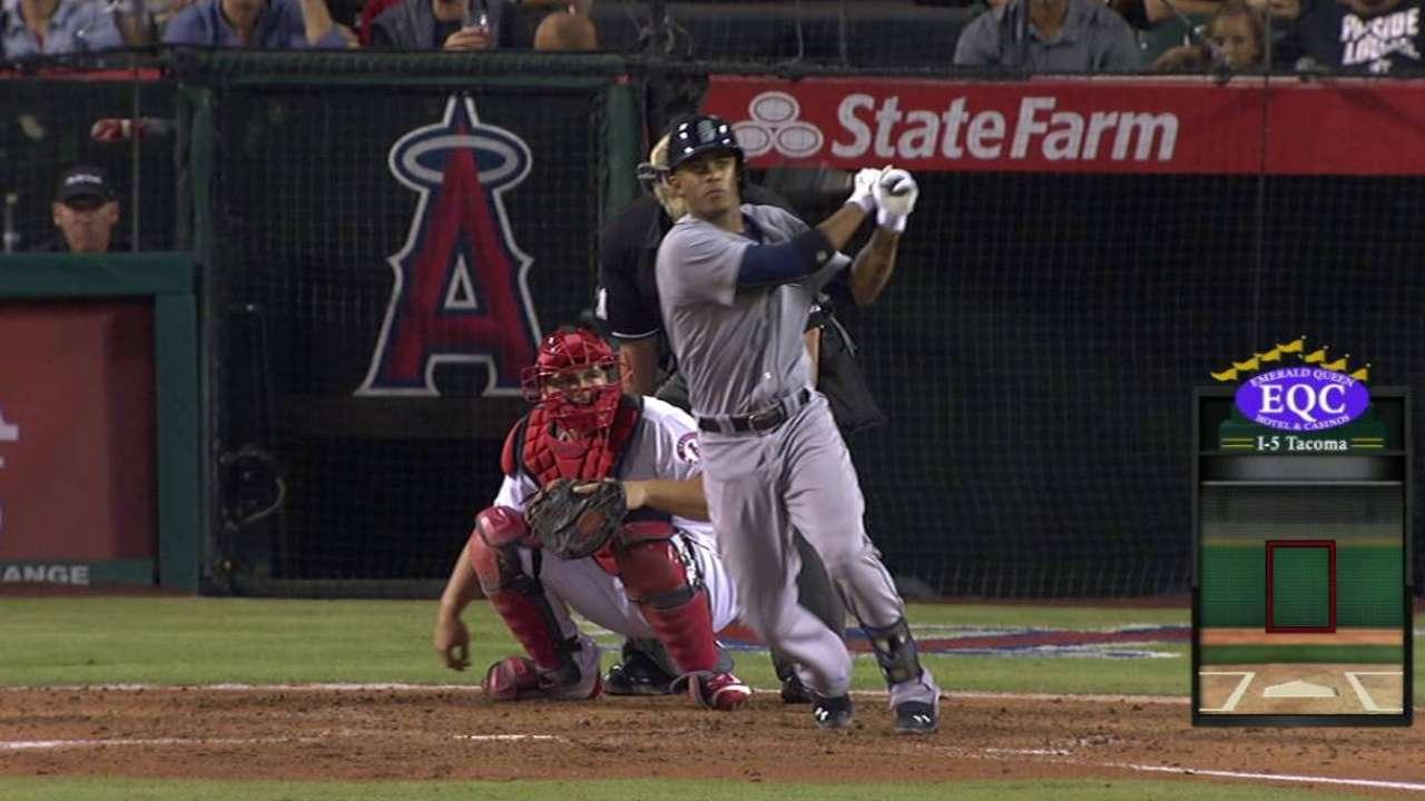 Marte's first career homer