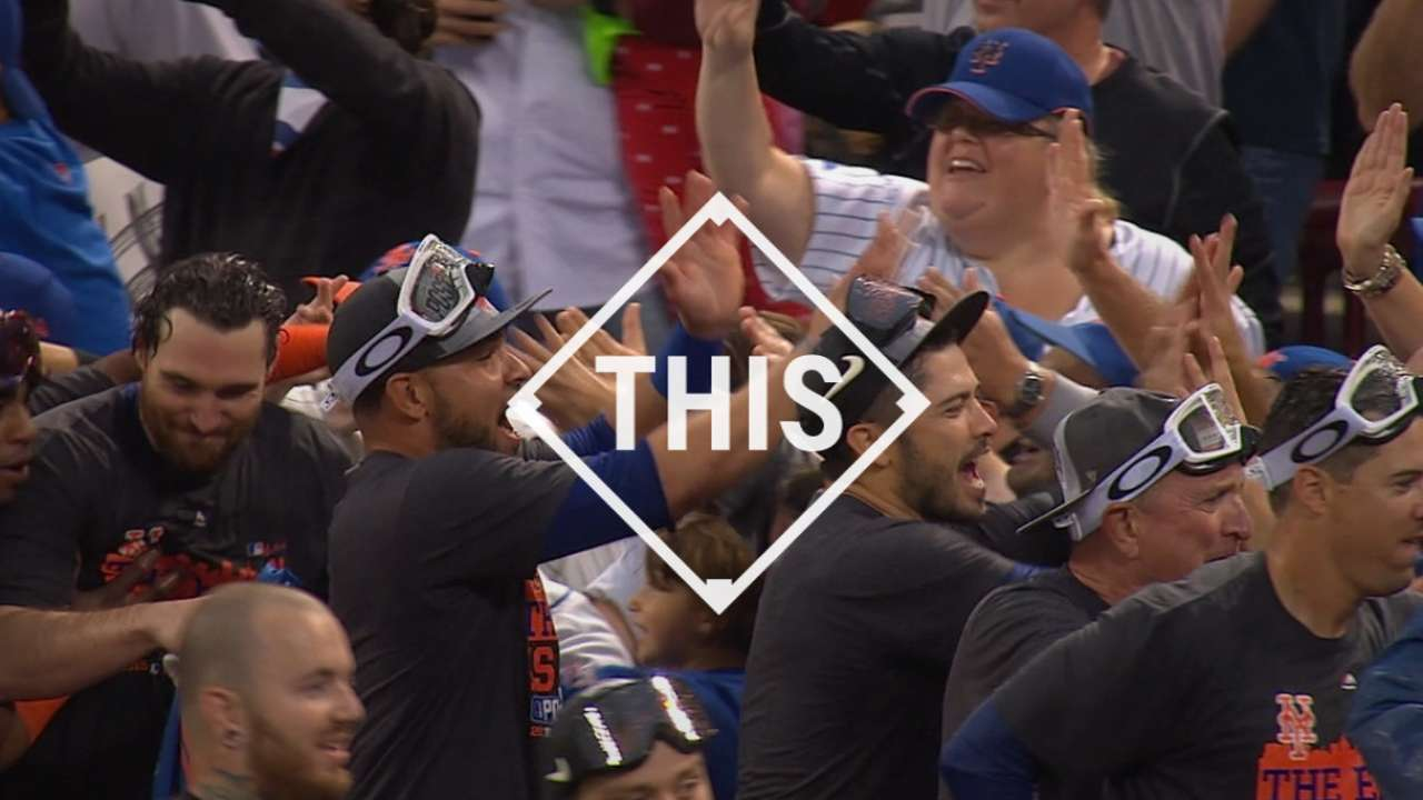 Mets' clinch party highlights top GIFs