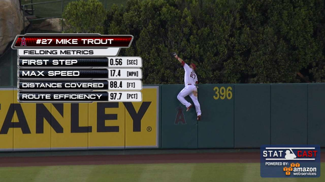 Statcast: Trout steals home run
