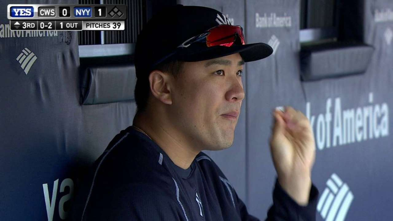 Yankees' booth on Tanaka