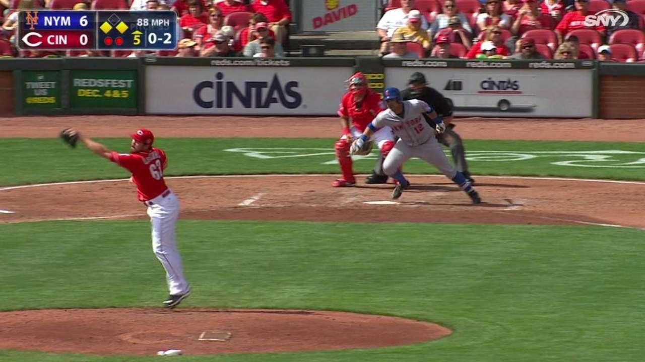 Dilson Herrera jonronea y Mets barren serie en Cincinnati