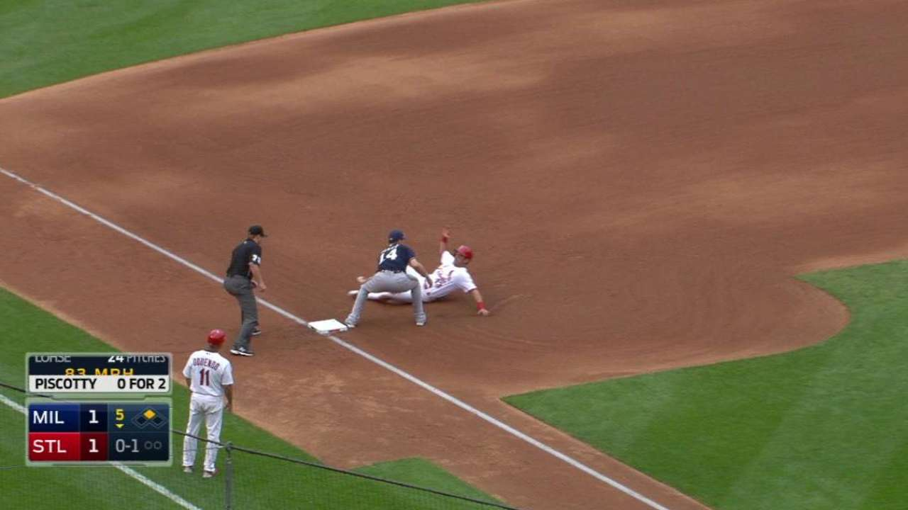 Segura gets the out at third