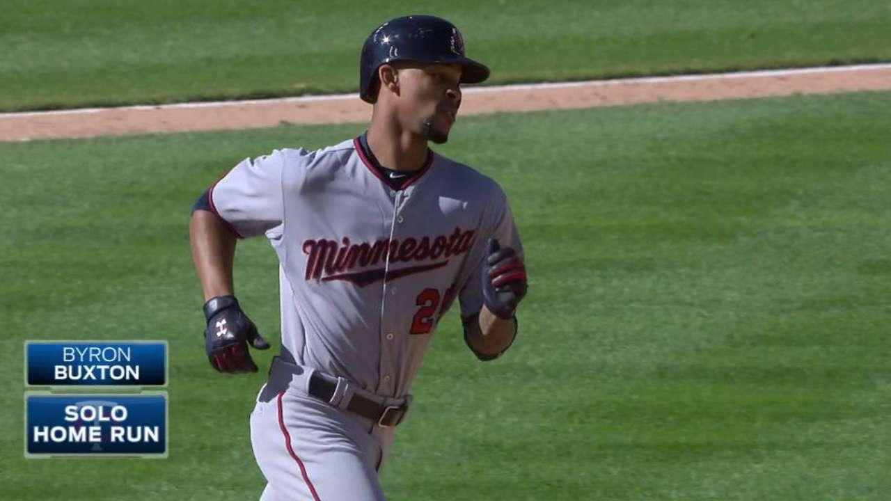Buxton's first career homer
