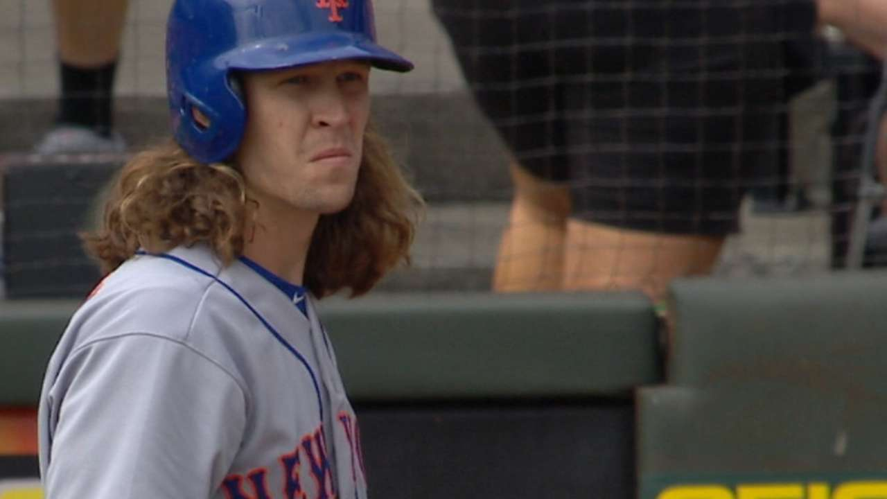 deGrom's big day at the plate