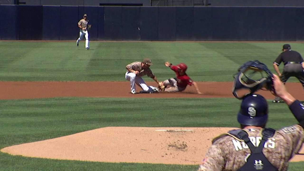Inciarte credited with a steal