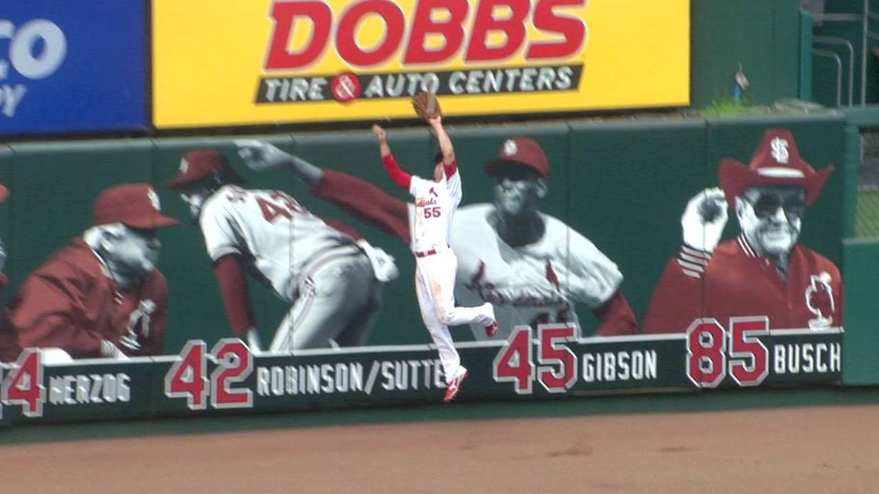 Piscotty's leaping catch