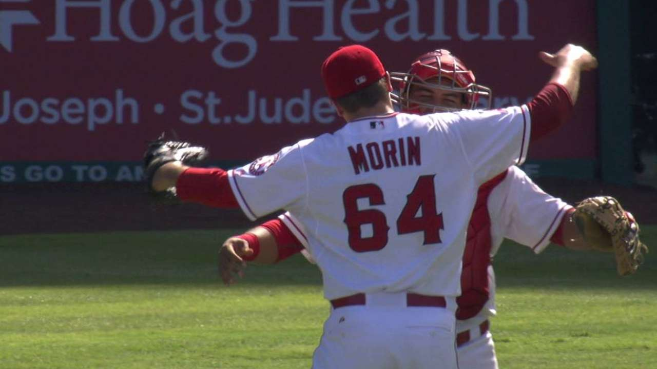 Morin earns first career save