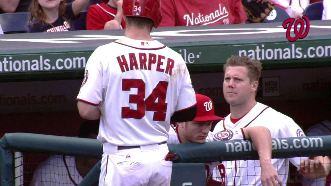 Harper, Papelbon go at it