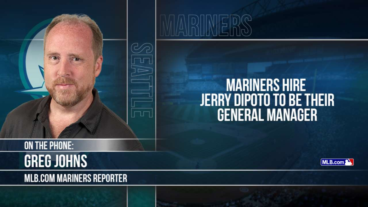 Dipoto hired by Mariners to be general manager