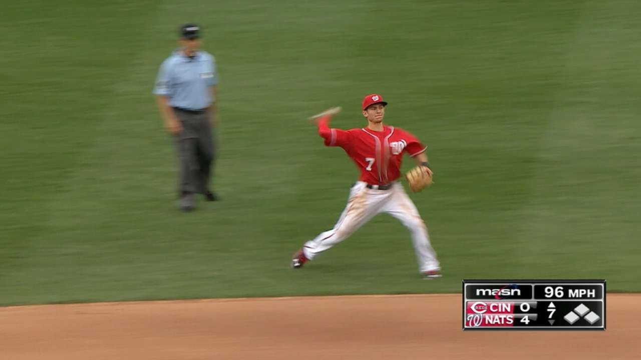 Nationals dazzle defensively
