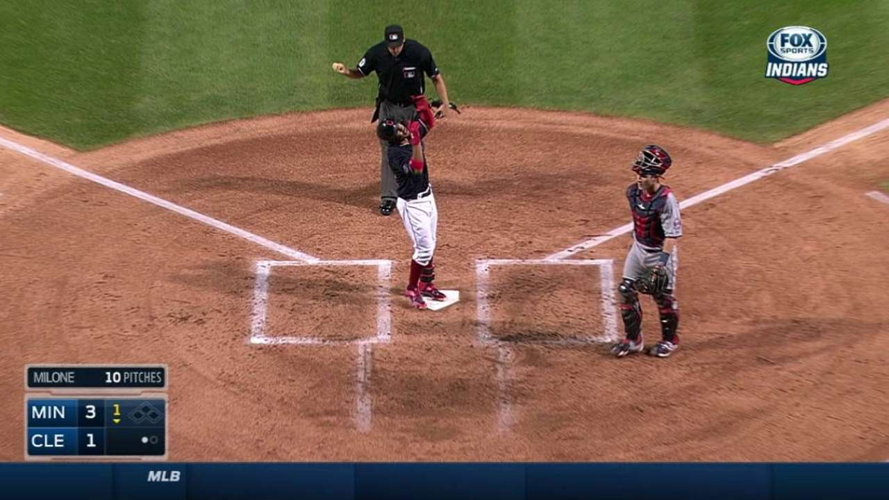 Indians drop opener, fall five back of Wild Card